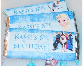Disney FROZEN Birthday Party Candy Bar Wrappers Printable