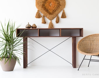 wood, console, wood console, console wood, modern wood console, modern, walnut console