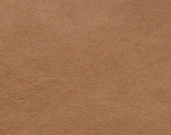 Pure wool felt. Organic, Plant Dyed, Camel
