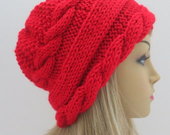 PDF 157  Knitting Hat Pattern, Arabella Two Hat, Tam, Beret, Knitting Hat Pattern
