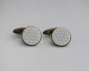 Vintage Metal Cuff Links - Made in USSR - Accessories Soviet Union era 1970-1980's