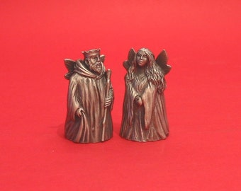 Finger Puppet Thimbles Oberon And Titania from A Midsummer Night's Dream Shakespeare Play Collectible Thimbles