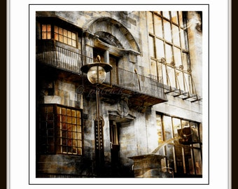 Detail of Glasgow School art Glasgow,  image size approx 9 x 9 with 1.5 inch white border, limited edition Glicee print