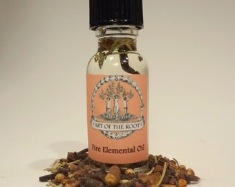 Fire Elemental Oil for Passion, Courage & Purification: Wicca, Pagan, Conjure, Witchcraft, Hoodoo, Voodoo