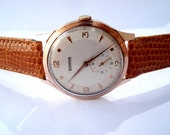 Say your offer !  Vintage Watch GLADIADOR Dial Textured Swiss Men 37mm 1950c Working Case Micron Gold