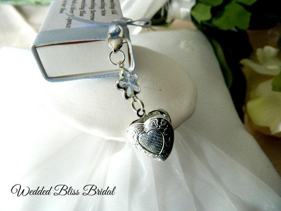 Bridal Bouquet Locket Charm : Wedding bouquet locket charm photo something blue