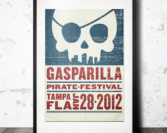 2012 Gasparilla Pirate Poster