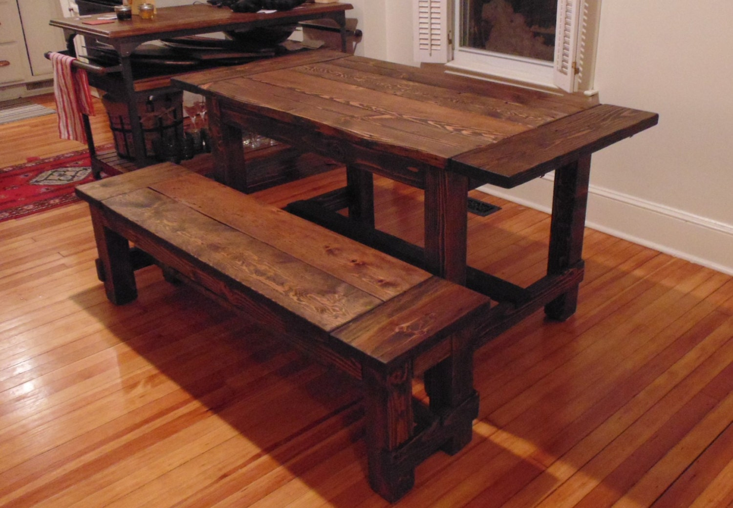 Harford Trestle Dining Table Farmhouse Reclaimed Wood