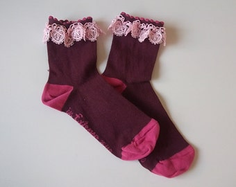 Lace boot socks, boot cuffs, birthday gifts,girly boot socks,