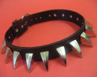 Choker Collar Silver Metal Spike Choker 15