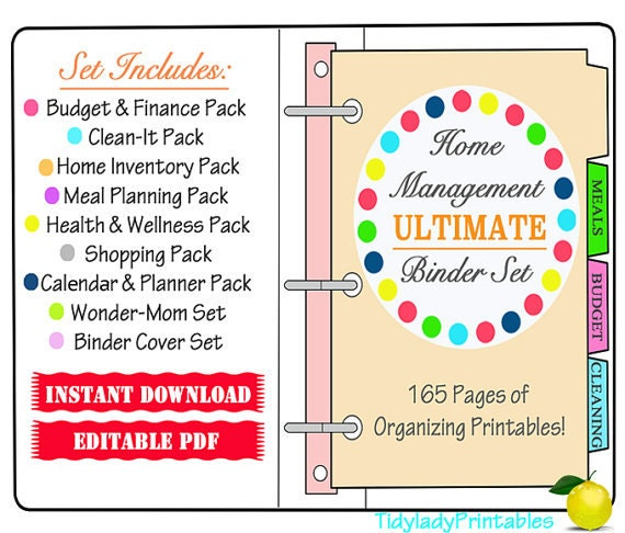 Items Similar To Home Management Binder