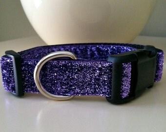 Dog Collar- Purple Glitter