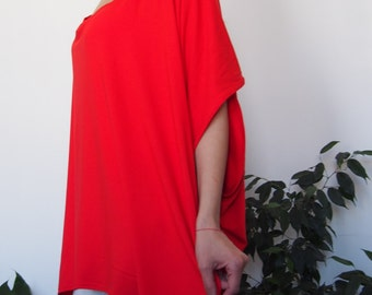 Long Tunics Jersey Tunics Over size Long BlouseTop Asymetric Tunics & Nara AT020