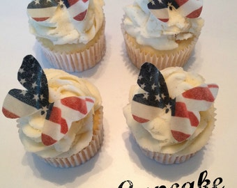 American Flag Edible Butterflies