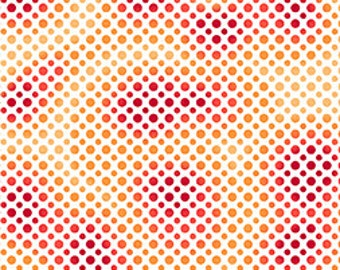 Ombre Dots in Red/Orange