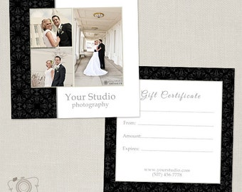 Photography Gift Certificate Template 006 - C170, INSTANT DOWNLOAD