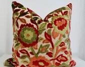 Patterned Velvet Pillow Cover, Red Velvet Pillow cover, Velvet Pillow,Green Velvet Pillow Cover, Red Velvet Pillow Cover