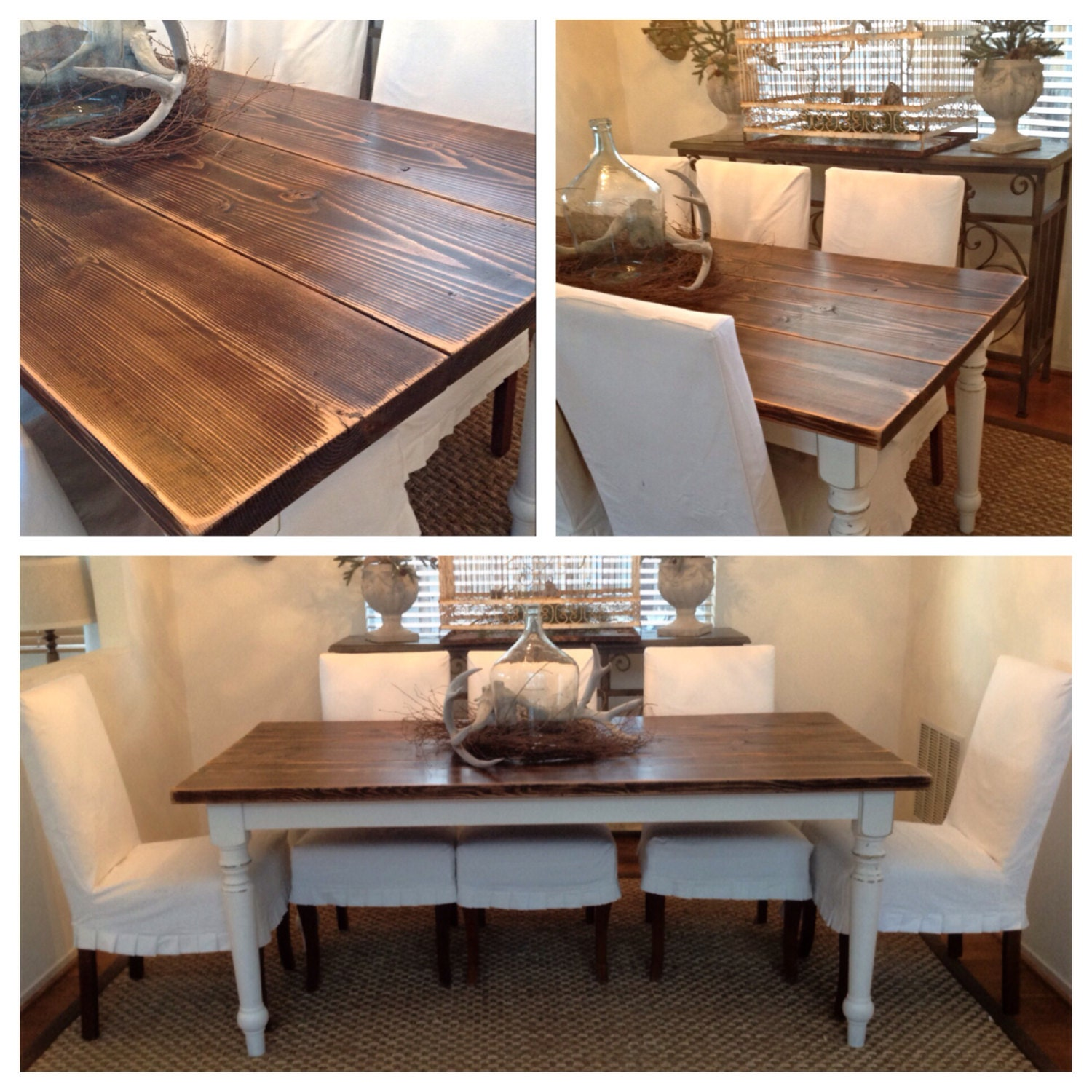 CUSTOM French Farmhouse Table FREE by TimewornInteriorsInc on Etsy