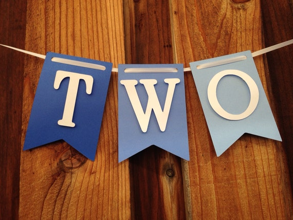 Two, High chair banner,  Birthday, I am 2