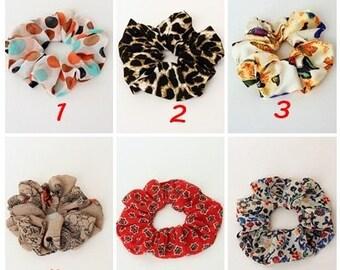 Set of 10 - Scrunchie ,Hair Fabric Hair Accessory