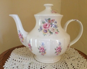 Vintage Arthur Wood & Son Pink Rose Stafforshire Teapot #6256