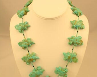 Horny Toad Turquoise Fetish Necklace