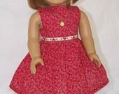 American Girl Doll Red Dress