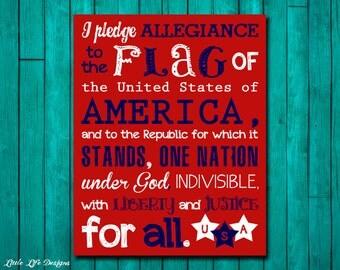 Pledge of allegiance   Etsy