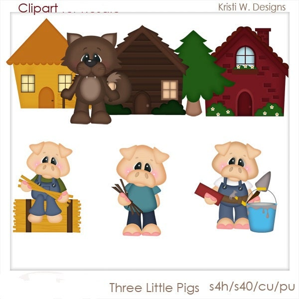Three Little Pigs Characters Clipart | www.pixshark.com ...