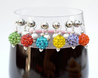 6 Magnetic Wine Charms