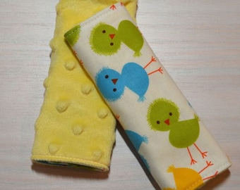 Car Seat Strap Covers - Neutral Chicks