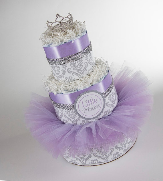 Diaper Cake - Little Princess - Baby Gift - Princess Baby - Baby Shower Gift - Baby Tutu - Princess Baby Shower - Princess Diaper Cake