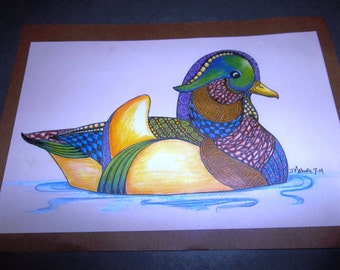 Original Artwork Mallard Duck Zoodle by Jess