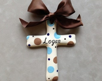 Personalized Baptism Cross - Christening, Christmas, Easter or Baby shower Gift