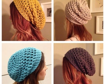 Crochet Slouch Beanie Hat Adult