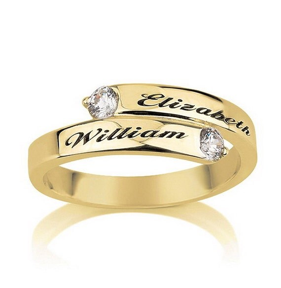 items similar to engraved promise ring couples ring