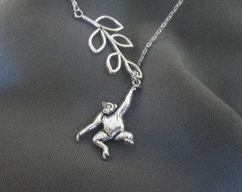 Monkeying Around Necklace - Lariat Style