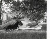 Let sleeping Dads Lie Vintage snapshot Photo