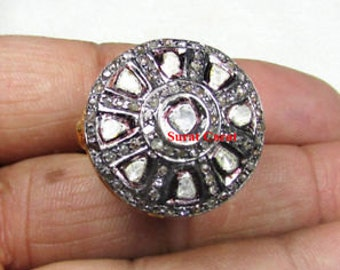 Victorian 2.35ct Antique/Rose Cut Diamond Ring, Free Shipping worldwide