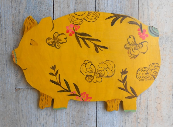 Provence Pig Wooden Sign