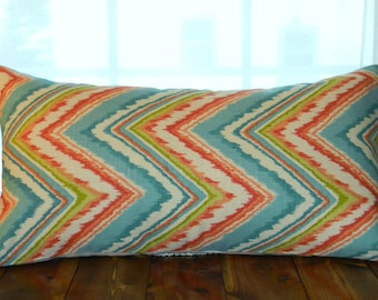 CLEARANCE SALE, 75% OFF   Linen Pillow Covers, Chevron Pillow Covers, 12 x 20 Pillows
