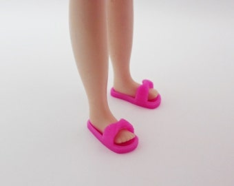 blythe shoes,3d printed, ribbon slipper  pink