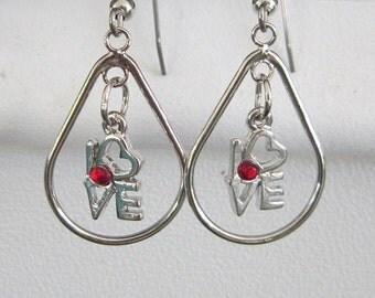 Love Small Teardrop Earrings