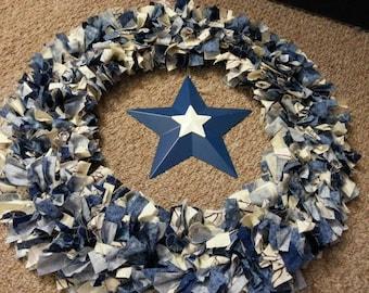 Winter woods rag wreath