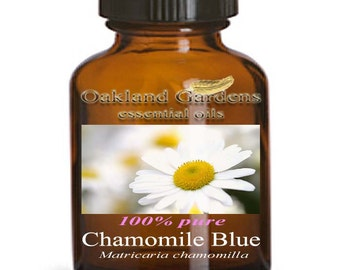 5 mL x Chamomile Blue GERMAN CHAMOMILE Essential Oil - Euro Dropper - 100% Therapeutic Grade - Strong, warm, sweet herbaceous