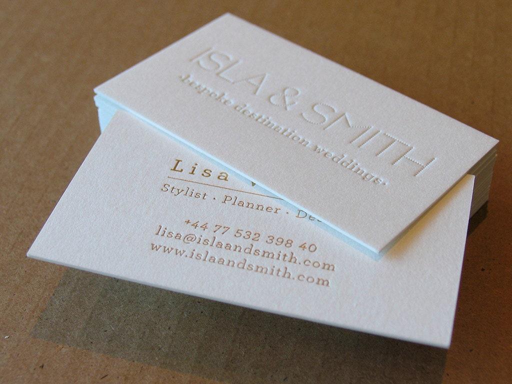 Letterpress business cards 100 1 letterpress gold foil zoom magicingreecefo Image collections