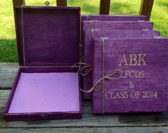 Groomsmen Gift, Set of 6, Cigar Box, Gifts for Him, Keepsake Box, Dad, Husband, Best Friend, Gift, Unique Mens Gift, Anniversary Gift