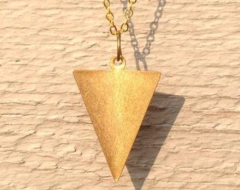 triangle necklace, triangle pendant, triangle jewelry, triangle, geometric, geometric necklace, geometric pendant, geometric jewelry