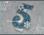 Frozen Inspired Birthday Candle with Snowflakes - 3 inch - You Choose the Number