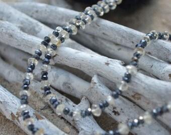 Black spinell Necklace with Citrine (JK 255)
